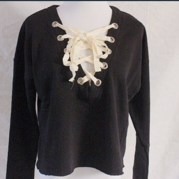 Tops - SMALL - LARGE AVAILABLE ! Lace Me Top